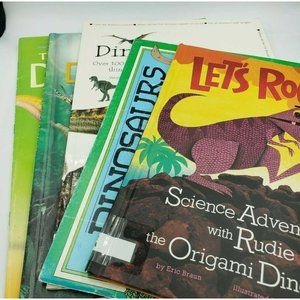 Lot of 6 Kids Books Dinosaurs Cool Facts Lets Rock